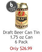 Jelly Belly Draft Beer jelly beans in a keepsake tin with removable lid. The perfect gift for a beer enthusiast.