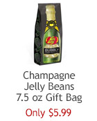 Jelly Belly Champagne jelly beans in a 7.5 oz gift bag. Perfect for parties or wedding favors. ???€??‹